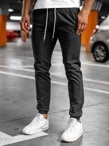 Černé pánské jogger kalhoty Bolf 1145