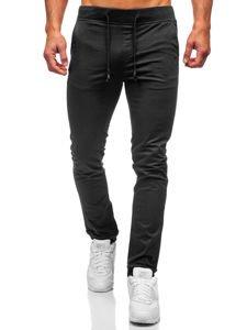 Černé pánské jogger kalhoty Bolf KA8877