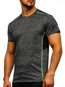 Černé pánské sportovní tričko bez potisku Bolf KS2102