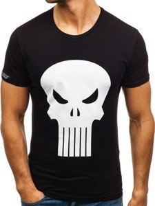 Černé pánské tričko s potiskem Bolf 1128