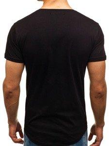 Černé pánské tričko s potiskem Bolf 181150