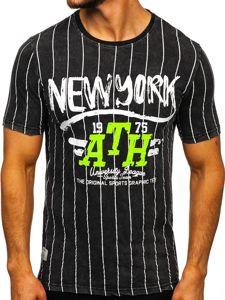 Černé pánské tričko s potiskem Bolf HFM017