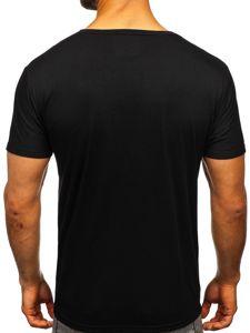 Černé pánské tričko s potiskem Bolf KS1986