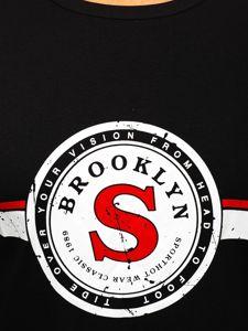Černé pánské tričko s potiskem Bolf SS11083