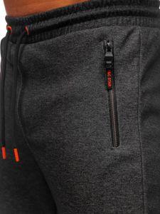 Černo-oranžové pánské tepláky Bolf Q1043