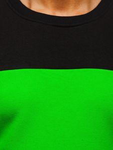 Černo-zelená pánská mikina bez kapuce Bolf 2010