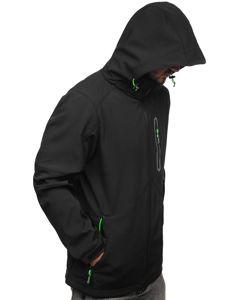 Černo-zelená pánská softshellová bunda Bolf 12263