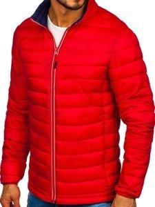 Červená pánská sportovní zimní bunda Bolf LY1017