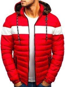 Červená pánská zimní bunda Bolf A410