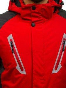 Červená pánská zimní lyžářská bunda Bolf F809