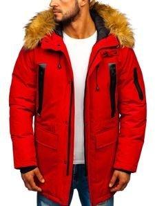 Červená pánská zimní parka Bolf 1093