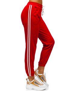 Červené dámské tepláky Bolf YW01020D