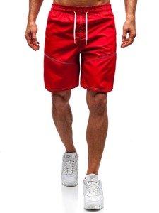 Červené pánské koupací šortky Bolf 349