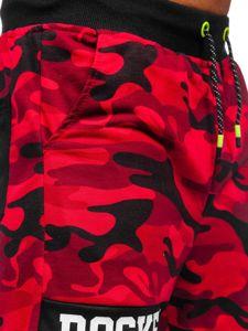 Červené pánské teplákové kraťasy Bolf KK300161