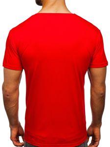 Červené pánské tričko s potiskem Bolf KS1971