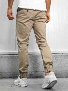 Ecru pánské jogger kalhoty Bolf KA951