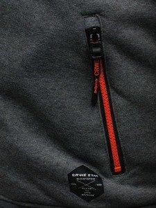 Grafitová pánská mikina s kapucí Bolf 3770