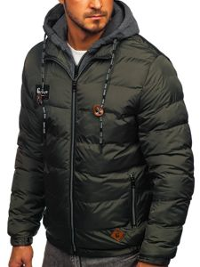 Grafitová pánská sportovní zimní bunda Bolf 50A199