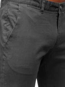 Grafitové pánské chino kalhoty Bolf 1143