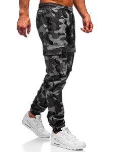 Grafitové pánské jogger kapsáče Bolf 702