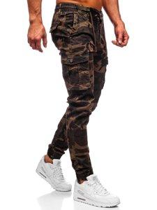 Hnědé pánské maskáčové jogger kapsáče Bolf CT6019