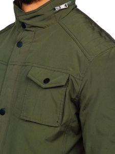 Khaki pánská elegantní přechodová bunda Bolf 1850