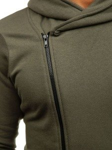Khaki pánská mikina s kapucí Bolf 05S