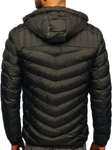 Khaki pánská prošívaná sportovní zimní bunda Bolf 50A178