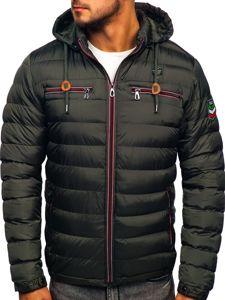 Khaki pánská sportovní zimní bunda Bolf 50A172