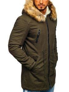 Khaki pánská zimní parka Bolf JK390