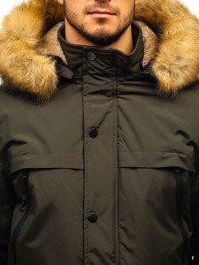 Khaki pánská zimní parka Bolf R101