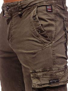 Khaki pánské kapsáčové kraťasy Bolf QS803