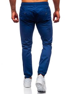 Kobaltové pánské jogger kalhoty Bolf 1145