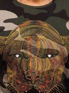 Maskáčovo-khaki pánské tričko s potiskem Bolf 181073