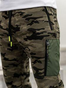 Maskáčovo-vícebarevné pánské baggy tepláky Bolf 3769G