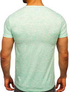 Mátové pánské tričko s potiskem Bolf SS11130