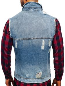 Modrá pánská džínová vesta Bolf AK551