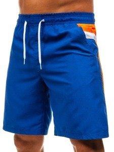 Modré pánské koupací šortky Bolf 208