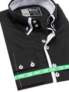 Pánská košile BOLF 1721-1 černá
