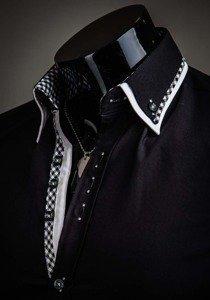 Pánská košile BOLF 3704 černá