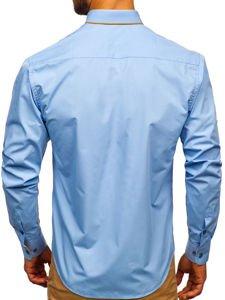 Pánská košile BOLF 4777 blankytná