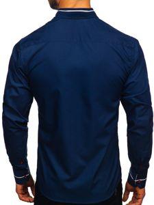 Pánská košile BOLF 5826 tmavě modrá