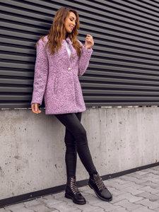 Růžový dámský kabát Bolf 6011-1
