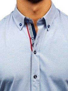 Šedá pánská vzorovaná košile s dlouhým rukávem Bolf 8843