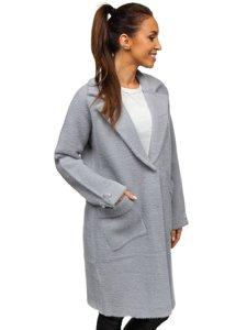 Šedý dámský kabát Bolf 20737