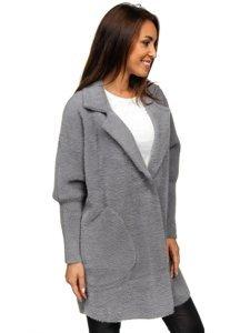 Šedý dámský kabát Bolf 7108