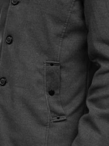 Šedý pánský kabát Bolf 8853