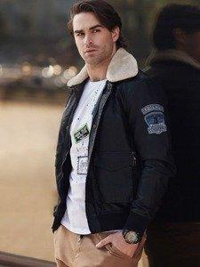 Stylizace č. 338 - hodinky, letecká bunda, tričko s dlouhým rukávem, jogger kalhoty