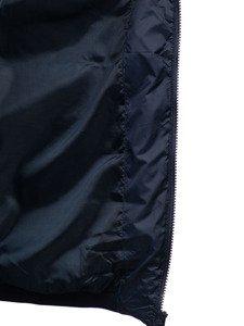 Tmavě modrá pánská prošívaná vesta s kapucí Bolf 1261