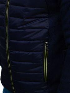 Tmavě modrá pánská sportovní přechodová bunda Bolf KS1917